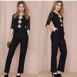 For love and lemons free people lace noir jumpsuit